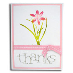 Inkssentials™ Surfaces Metal Foil Tape Heartfelt Thanks Card By Kriss Cramer