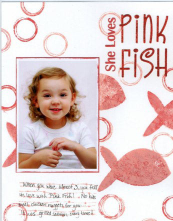 She Loves Pink Fish By Cat Confer