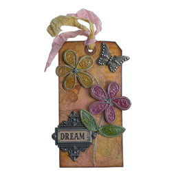 Rock Candy Crackle Dreaming of Flowers Tag By Richele Christensen