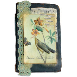 Melt Art™ Singing Bird Collage Book Cover By Lisa Dixon