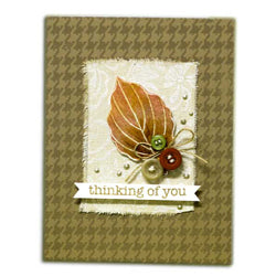 Liquid Pearls™ Thinking Of You Card By Jennifer McGuire