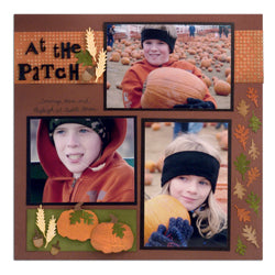 """At the Patch"" Scrapbook Layout By Patti Behan"