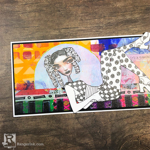 Handmade Greeting Cards Mixed Media Style by Josefine Fourage Step 12