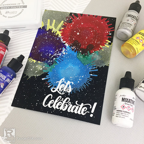 Alcohol Ink Fireworks