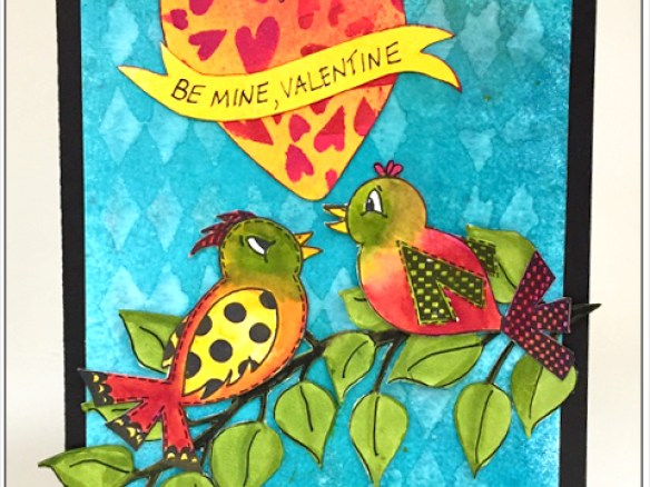 Be Mine Valentine Card by Patti Behan | www.rangerink.com