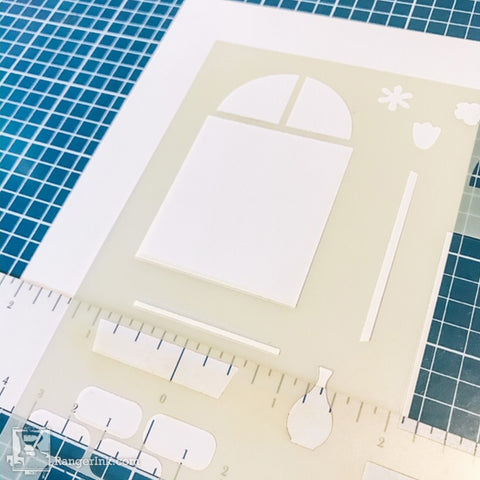 Simon Hurley create. Window Maker Stencil Card Step 1