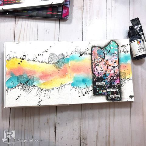 Caria Zglobicki Be Brave Dina Wakley Media Watercolor Art Journal Step 5