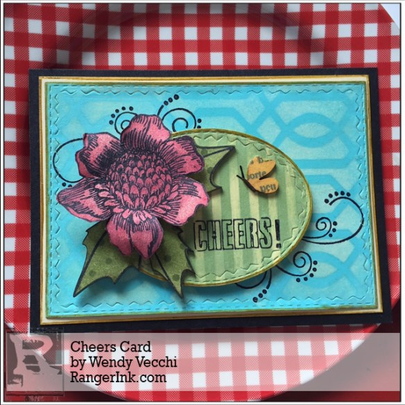 Cheers Card By Wendy Vecchi | www.rangerink.com