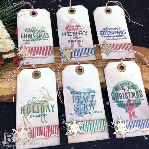 Archival Festive Christmas Tags by Bobbi Smith