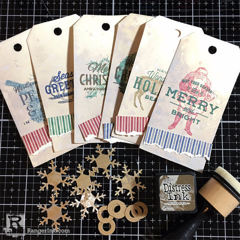 Archival Ink Christmas Tag Step 12