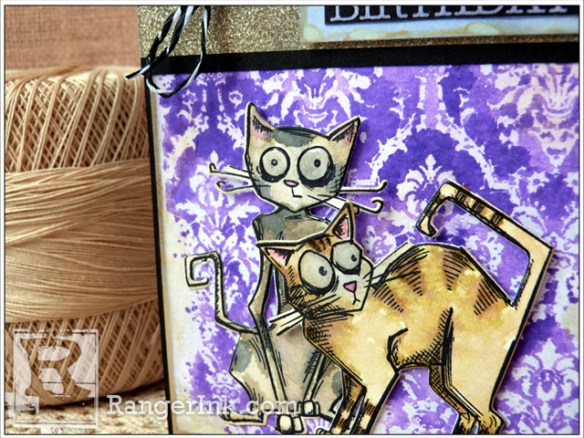 Crazy Cats Happy Birthday Card by Audrey Pettit | www.rangerink.com