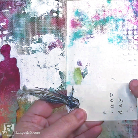 Creating a Cohesive Two-Page Art Journal Step 7