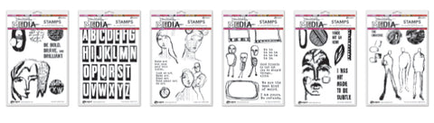 Dina Wakley MEdia Cling Stamps