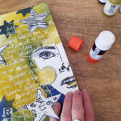 Dina Wakley Media Art Journal Peekaboo Page Step 10
