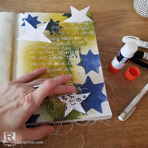 Dina Wakley Media Art Journal Peekaboo Page Step 5