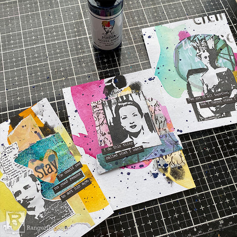 Dina Wakley MEdia Collage Cards Step 8