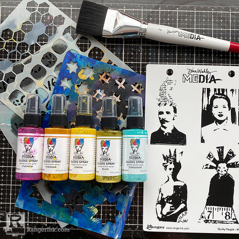 Dina Wakley MEdia Collage Cards Supplies