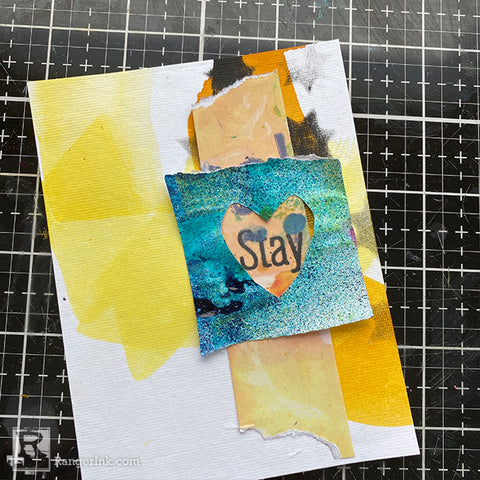 Dina Wakley MEdia Collage Cards Step 5