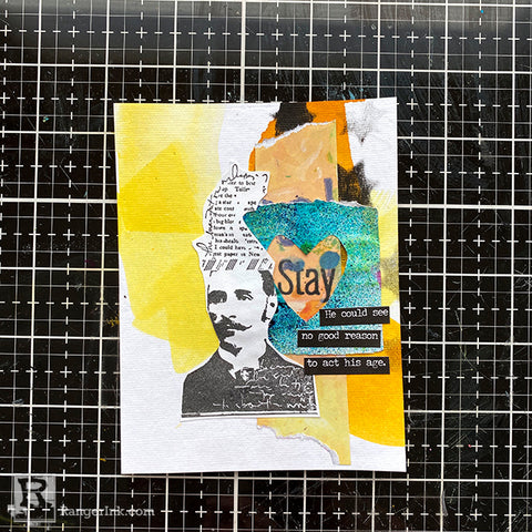 Dina Wakley MEdia Collage Cards Step 6