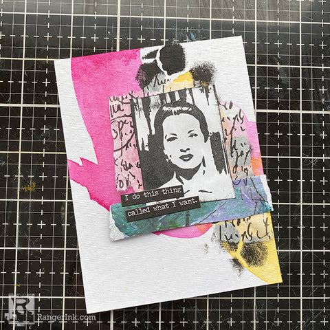 Dina Wakley MEdia Collage Cards Step 7