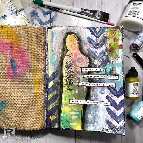 October Is About Art Journal Page by Carissa Zglobicki