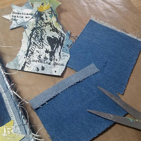 Dina Wakley Media Denim Journal Step 8