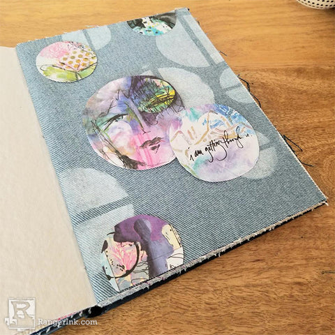 Dina Wakley Media Faux Sewn Bubble Journal Page Step 4