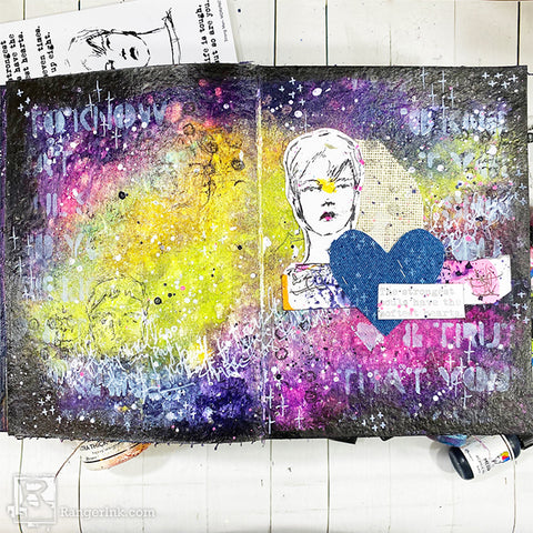 Dina Wakley MEdia The Strongest Soul Art Journal Page Beauty