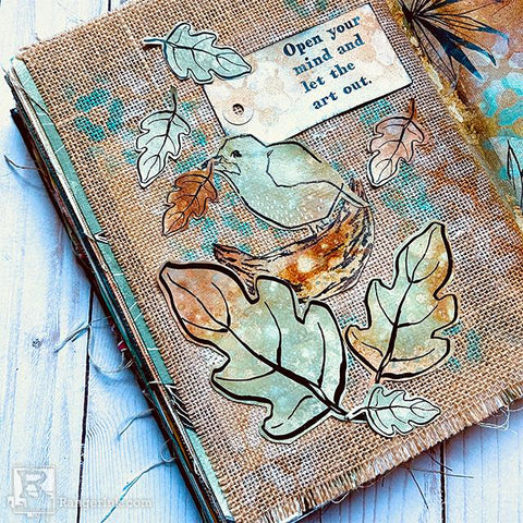 Dina Wakley Autumnal Journal Page by Megan Whisner Quinlan