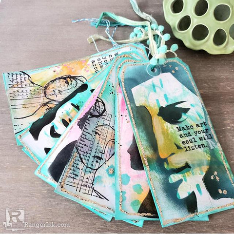 Dina Wakley MEdia Encouragement Tags by Megan Whisner Quinlan