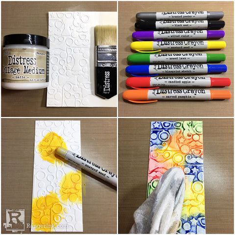 Tim Holtz Distress® Crayon Smile Card Tutorial by Bobbi Smith Step 2