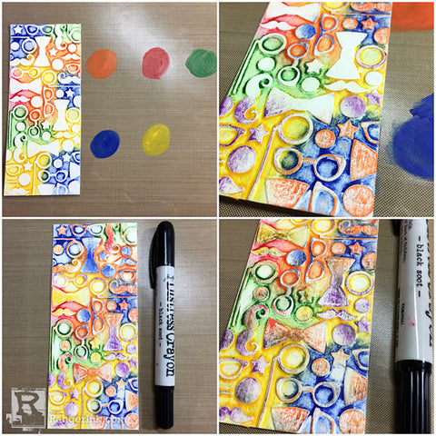 Tim Holtz Distress® Crayon Smile Card Tutorial by Bobbi Smith Step 3