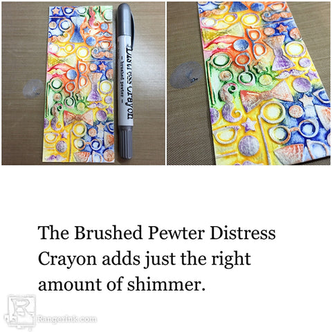 Tim Holtz Distress® Crayon Smile Card Tutorial by Bobbi Smith Step 4