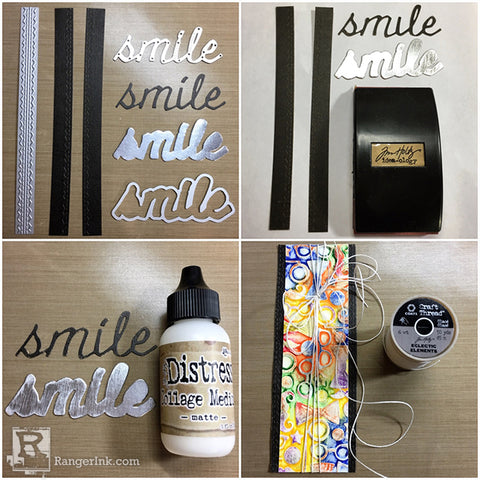 Tim Holtz Distress® Crayon Smile Card Tutorial by Bobbi Smith Step 6