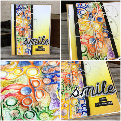 Tim Holtz Distress® Crayon Smile Card Tutorial by Bobbi Smith Step 8