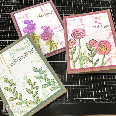 Tim Holtz Distress® Oxide® Sprays Mixed Media Cards by Richele Christensen Step 8