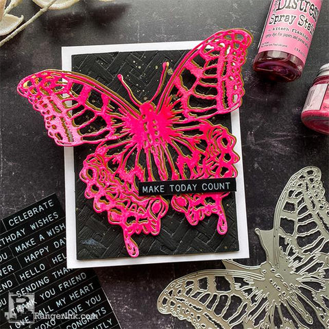 Distress Perspective Butterfly Card by Cheiron Brandon