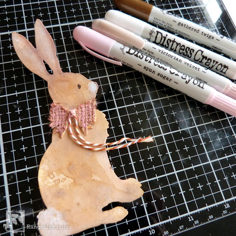 Distress #Spring Rabbit Card by Audrey Pettit Step 4