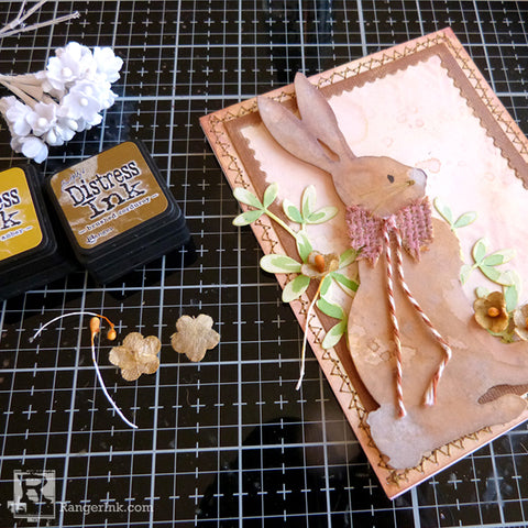 Distress #Spring Rabbit Card by Audrey Pettit Step 7