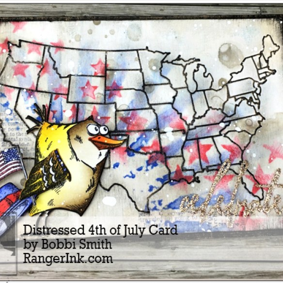 Distress 4th of July Card by Bobbi Smith