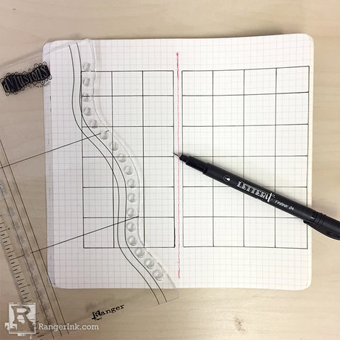 Dyalog Monthly Bullet Journal Spread by Taylor Huizenga Step 1