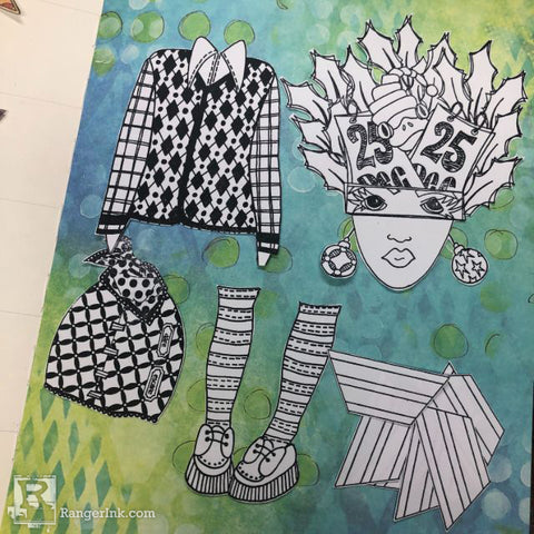 Dylusions Creative Dyary Dream Layout Step 2
