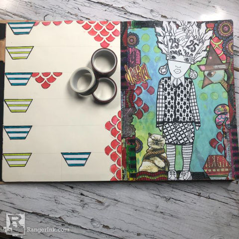 Dylusions Creative Dyary Dream Layout Step 5