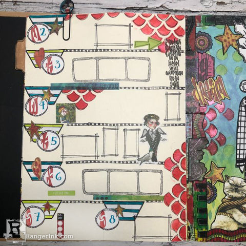 Dylusions Creative Dyary Dream Layout Step 7