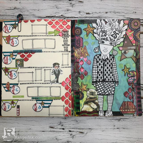 Dylusions Creative Dyary Dream Layout Step 8