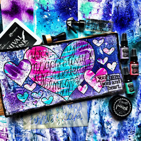 Dylusions Heart and Soul Journal Page Beauty Shot