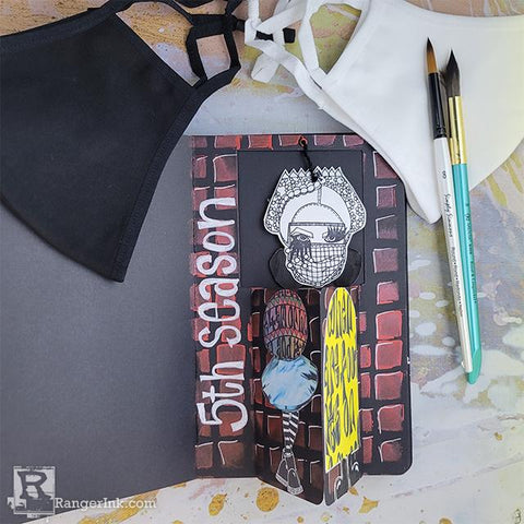 Dylusions Art Journal Window Page by Beth Broadway