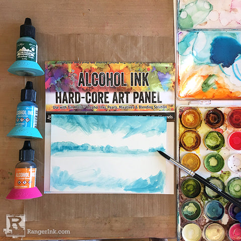 Alcohol Ink Hardcore Art Panel Painting Step 1