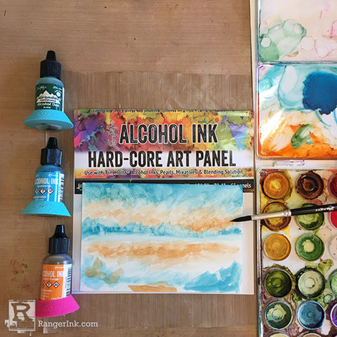 Alcohol Ink Hardcore Art Panel Painting Step 2