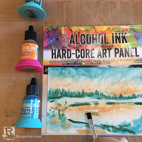 Alcohol Ink Hardcore Art Panel Painting Step 5